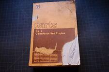 CAT Caterpillar 3512 Generator Set Engine Parts Manual book catalog spare list