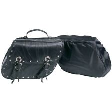 2PC MOTORCYCLE LEATHER STUDDED SADDLEBAGS SET FOR HARLEY