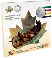 2020 CANADA $5 HUDSON'S BAY COMPANY 350th Anniversary Pure Silver Coin