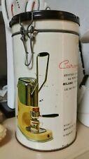🔔 raro barattolo in latta caffè per macchina caravel arrarex vintage anni 60'