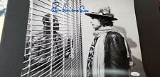 Rubin Hurricane Carter signed 11x14 photo with Bob Dylan behind bars JSA COA