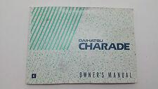 Daihatsu Charade Owners Manual