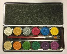 Ben Nye Lumiere Grande Pressed 12 Color Makeup Palette LUK-12