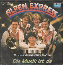 """7"""" Alpen Express Die Musik ist da / Wo kommt der Kater bloß her 80`s Koch"""