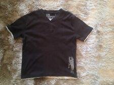 Men's Grey Lee Cooper 60% Cotton T-Shirt - UK Size Medium, Thick Material