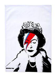 Brandalised Banksy Graffiti Lizzie Stardust Tea Towel