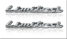 2 - NEW LIMITED edition Chrysler 300  Ford Mustang badge emblem (LIMITED CHROME)