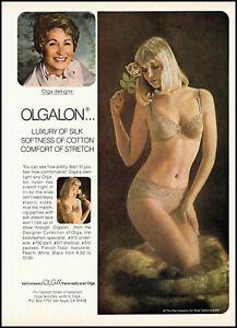 1981 sexy Blonde Woman modeling Olga Bra and Panties retro photo print ad S27