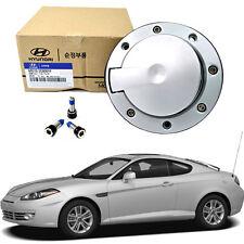 FUEL GAS CAP COVER Silver + BOLTS 3EA Hyundai Tiburon Coupe 03-08 GENUINE OEM