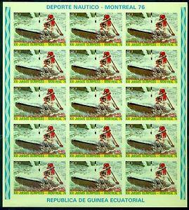 EQUATORIAL GUINEA*1976*set 4 F/Sheets IMP.*MNH**Olympic Games-Mi.No785,787-789KB