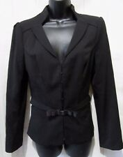White House Black Market Size 6 Lined Hook Front Belted Career Blazer Jacket