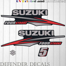 Suzuki 5hp Four Stroke outboard engine decal sticker set kit reproduction 5 HP
