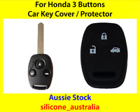 New Black Silicone Car Key Cover for Honda Civic Accord CR-V Odyssey City Fit