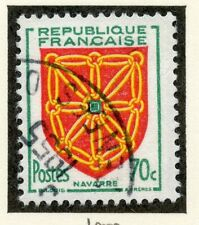 STAMP / TIMBRE DE FRANCE OBLITERE N° 1000 ARMOIRIES DE PROVINCES / NAVARRE