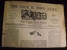 Dick E Bird news newspaper 1995 nature zine humor nature vintage tabloid