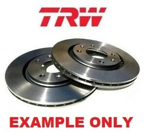 TRW Front Brake Disc Rotors Set DF4358S fits Audi A6 C6,4F2 3.0 TDI quattro