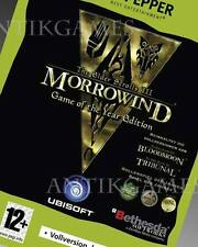 Morrowind Game of the Year Edition Bloodmoon Tribunal PC Elder Scrolls 3 III