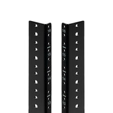 NavePoint 16U Vertical Rack Rail Pair DIY Kit with Hardware