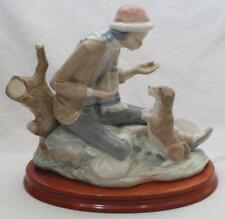 Beautiful Lladro Nao Daisa Figure Figurine 4939 Boy with Begging Dog