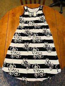 Justice Girls Black White Floral Maxi Dress Size 16