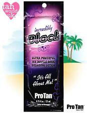 PRO TAN INCREDIBLY BLACK SUNBED BRONZING TANNING ACCELERATOR LOTION - 22ml