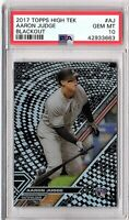 2017 Topps High Tek Blackout Refractor #AJ AARON JUDGE Rookie PSA GEM MINT 10