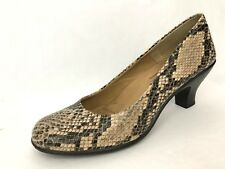 SoftSpots Womens Pumps Shoes Faux Snake Skin Print Slip on Round Toe Size 11 M