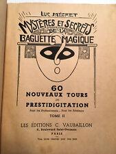 1948 MAGIE PRESTIDIGITATION TOURS ILLUSIONS JEUX TRUCS CONSEILS SECRETS LIVRE