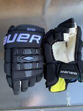 "Black Senior Bauer Nexus 1000 14"" Pro Stock Gloves"