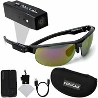 Pogocam Wearable Camera + PogoTec AGS Black Pacific Frames including Accessories