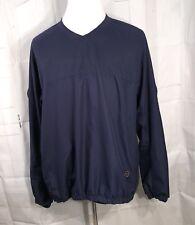 FJ FootJoy Mens Pullover Jacket Size XL Golf Windbreaker Blue Long Sleeve Pocket