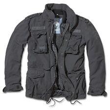 Brandit - M65 Giant Feldjacke Schwarz, Parka US Style Jacke mit Futter%09