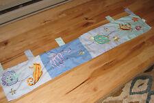 KIDSLINE WINDOW VALANCE SEA LIFE BLUE TURTLE FISH CRAB OCEAN TAB TOP