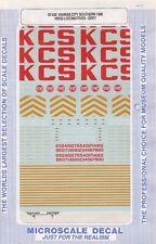 87-550 HO Scale Kansas City Southern 1989 Hood Locomotives- Grey