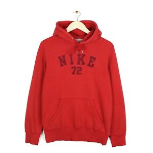 Nike Mens Spell Out Embroidered Big Logo Red Hoodie Sweatshirt - Size S