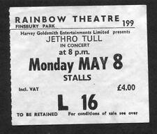 1978 Jethro Tull concert ticket stub Heavy Horses London Rainbow Finsbury Park