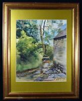 Original 1961 Art Watercolour Painting Cumbrian Artist Signed