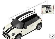 Stripe Set Sports Roof White Genuine MINI F55 Cooper S 51142359605