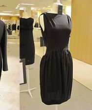 Balenciaga Edition V-Back Sleeveless Boatneck Dress Black Size 36