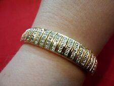 Diamond Bracelet, 1.00 Carat in 18K Yellow Gold over Brass-7 inches