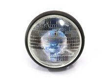 """7.7"""" Matt Black Steel 12v 55W H4 Headlight for Black Harley Davidson Cafe Racer"""