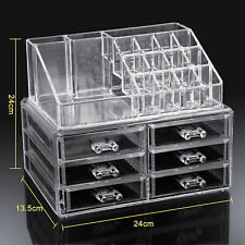 Acrylic Clear Cosmetic Make Up Organiser Display Jewelry Drawer Box Storage Case