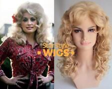 DELUXE DOLLY PARTON BLONDE CURLY BOUFFANT VOLUME PERM COSTUME WIG DRAG