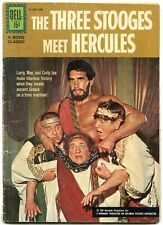 Three Stooges Meet Hercules Comic- Dell photo cover VG