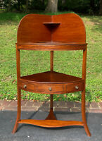 Antique 19th Century George III Mahogany Corner Washstand - Shipping Available
