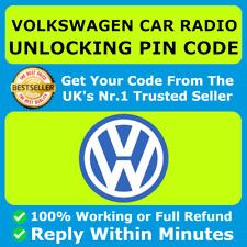 VW VOLKSWAGEN RADIO CODE UNLOCK CODE FOR ALL MODELS ALL RCD & RNS 300 310 315 ✅