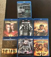 LOT of 7 Blu-Ray Movies - Action - FREE S&H