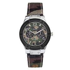 GUESS Unisex Camo Print Steel Quartz Watch U0458L1