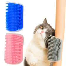 New listing Cat Self Soft Wall Corner Massage Combs Groomer Soft Rubber Bristles Massager