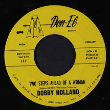 BOBBY HOLLAND: Two Steps Ahead Of A Woman 45 (sl warp) Soul